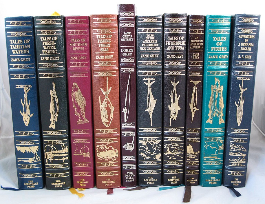 10 Volume Set - Tales of Fishes; Tales of Fishing Virgin Seas; Tales of Southern Rivers; Tales of Fresh Water Fishing; Tales of Swordfish and Tuna; Tales of Tahitian Waters; Tales of Angler's El Dorado New Zealand; An American Angler - Product Image