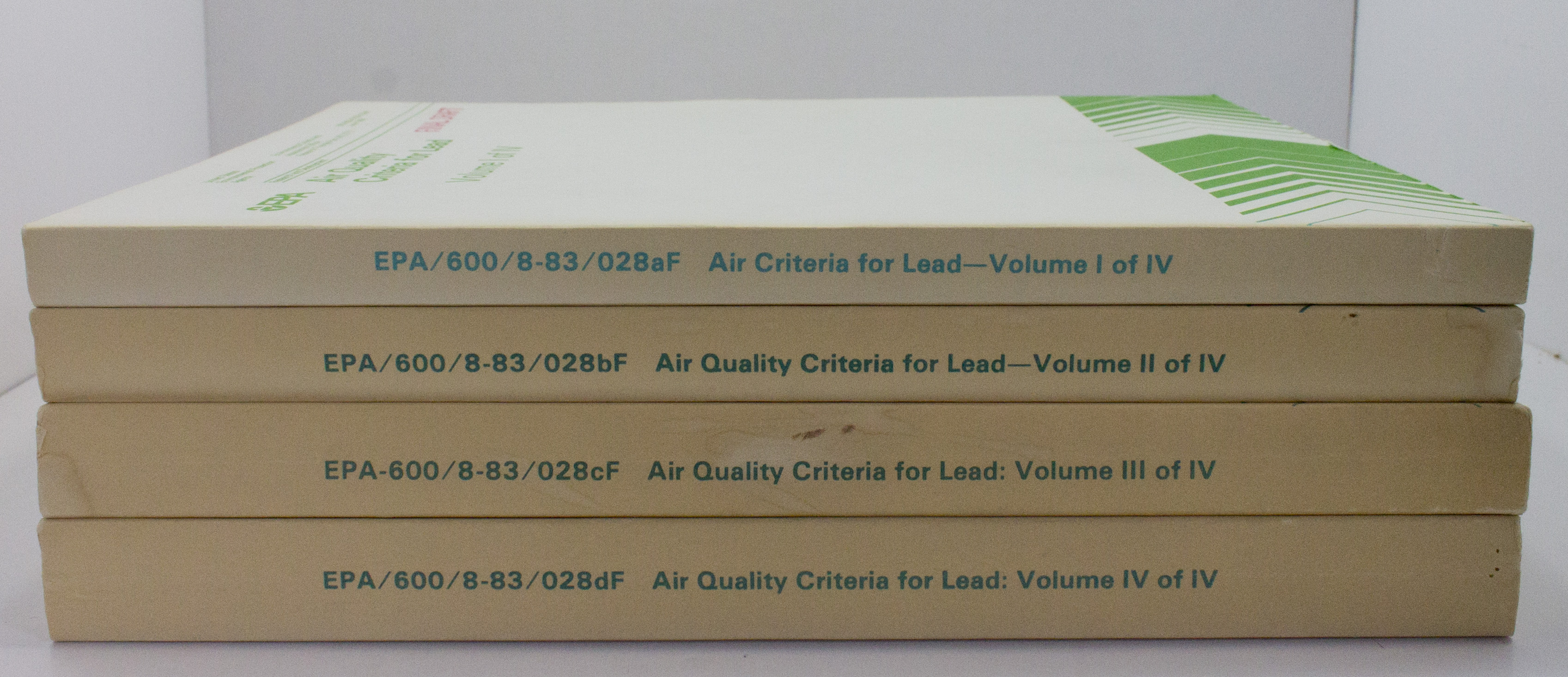 Air Quality Criteria for Lead (4 volumes)by: N/A - Product Image