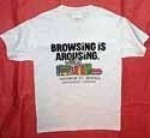 Browsing is Arousing™ White T-Shirt - Product Image