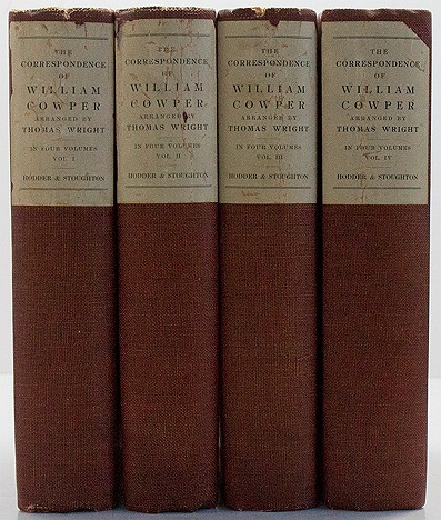 Correspondence of William Cowper, The - 4 Volumesby: Wright, Thomas  - Product Image