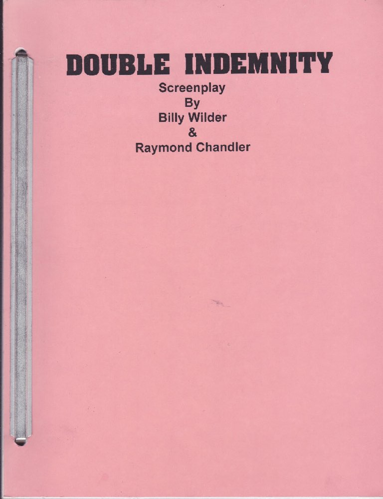 Double Indemnity: Screenplayby: Wilder, Billy and Raymond Chandler - Product Image