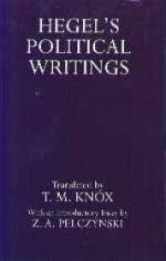 Hegel's Political Writings (Oxford Reprints)by: Gw, Hegel - Product Image