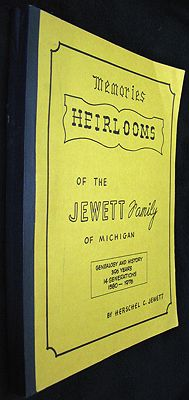 Heirlooms - A History and Genalogy of Thirteen Generations and the Third Dimention - 390 Years - 1585 to 1976 - Bicentennial Issueby: Jewett, Herschel C. - Product Image