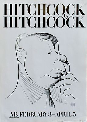 Hitchcock By Hitchcock: Alfred Hitchcock Caricature (Museum of Broadcasting Poster)Hirschfeld, Al, Illust. by: Al  Hirschfeld - Product Image