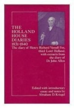 Holland House Diaries, 183140 (Study in Social History)by: Fox, Henry Richard Vassall - Product Image
