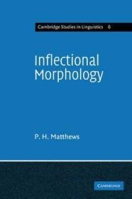 Inflectional Morphology: A Theoretical Study Based on Aspects of Latin Verb ConjugationMatthews, P. H. - Product Image