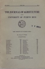 Insects of Puerto Rico, The: Coleoptera (Journal of Agriculture of the University of Puerto Rico)Wolcott, George N. - Product Image