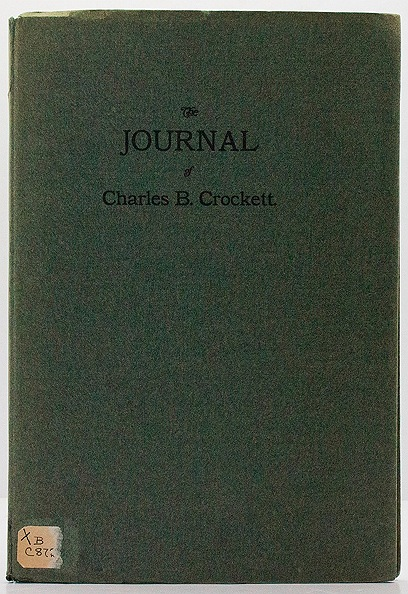 Journal of Charles B. Crockett, Theby: Crockett, Charles B. - Product Image