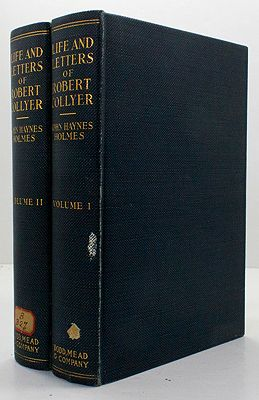 Life and Letters of Robert Collyer 1823-1912 - Two Volumesby: Holmes, John Haynes - Product Image