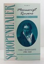Manuscript Remains, Volume I: Early Manuscripts (1804-1818)Schopenhauer, Arthur - Product Image
