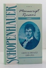 Manuscript Remains, Volume II: Critical Debates (189-1818)Schopenhauer, Arthur - Product Image
