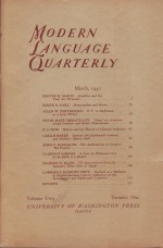 Modern Language Quarterly March 1941by: Heffner (Ed.), Ray - Product Image
