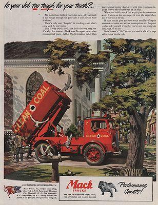 ORIG VINTAGE 1945 MACK TRUCK MAGAZINE ADby: Bingham, James - Product Image