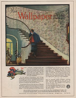 ORIG VINTAGE MAGAZINE AD / 1923 WALLPAPER MANUFACTURERS ASSOCIATION ADby: Wilson (Illust.), Edward A. - Product Image