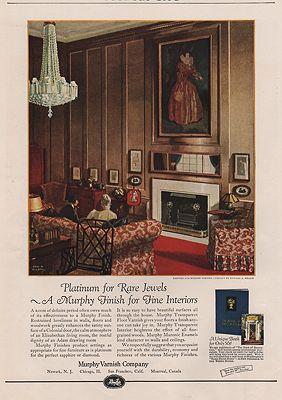 ORIG VINTAGE MAGAZINE AD / 1924 MURPHY VARNISH COMPANY ADby: Wilson (Illust.), Edward A. - Product Image