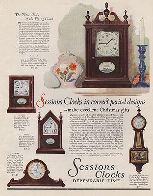 ORIG VINTAGE MAGAZINE AD / 1928 SESSIONS CLOCKS ADby: N/A - Product Image