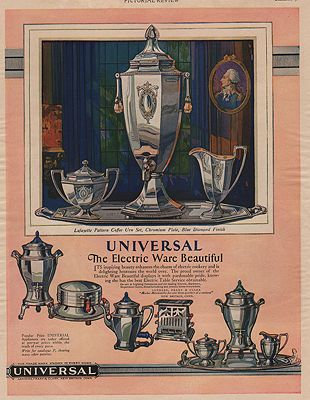ORIG VINTAGE MAGAZINE AD / 1928 UNIVERSAL ELECTRIC WARE ADby: N/A - Product Image
