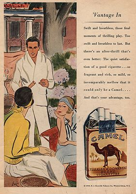 ORIG VINTAGE MAGAZINE AD / 1930 CAMEL CIGARETTES ADby: Erickson (Illust.), Carl - Product Image