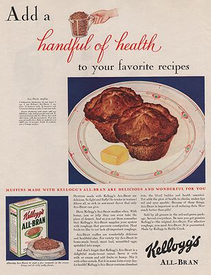ORIG VINTAGE MAGAZINE AD / 1930 KELLOGG'S ALL BRAN ADby: N/A - Product Image