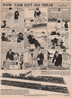ORIG VINTAGE MAGAZINE AD / 1932 LIONEL TRAIN AD by: N/A - Product Image