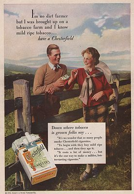 ORIG VINTAGE MAGAZINE AD / 1934 CHESTERFIELD CIGARETTES ADby: N/A - Product Image