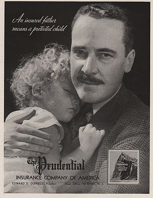 ORIG VINTAGE MAGAZINE AD / 1938 PRUDENTIAL INSURANCE ADby: N/A - Product Image