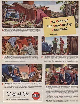 ORIG VINTAGE MAGAZINE AD / 1940 GULFPRIDE OIL ADby: Williamson (Illust.), James - Product Image