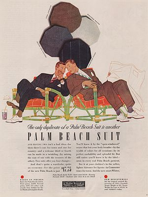 ORIG VINTAGE MAGAZINE AD / 1941 PALM BEACH SUIT ADby: Beckhoff (Illust.), Harry - Product Image