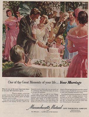 ORIG VINTAGE MAGAZINE AD / 1951 MASSACHUSETTS MUTUAL LIFE INSURANCE ADby: Anderson (Illust.), Harry - Product Image