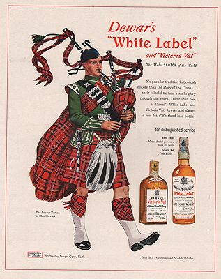 ORIG VINTAGE MAGAZINE AD / 1953 DEWAR'S WHISKEY ADby: Williamson (Illust.), James - Product Image