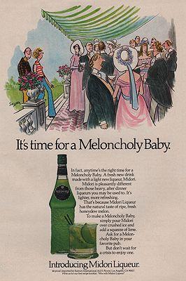 ORIG VINTAGE MAGAZINE AD / 1978 MIDORI MELON LIQUEUR ADby: Saxon (Illust.), Charles - Product Image