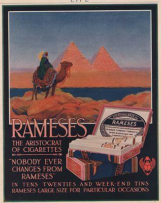 ORIG VINTAGE MAGAZINE AD/ 1917 RAMESES CIGARETTE ADillustrator- N/A - Product Image