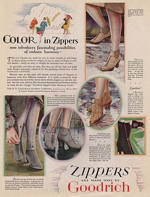 ORIG VINTAGE MAGAZINE AD/ 1927 GOODRICH ZIPPERS ADby: N/A - Product Image
