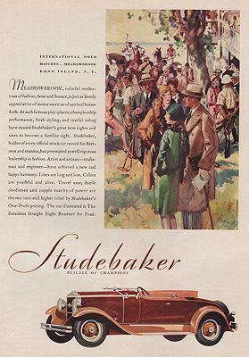 ORIG VINTAGE MAGAZINE AD/ 1929 STUDEBAKER CAR ADby: Timmins (Illust.), Harry - Product Image