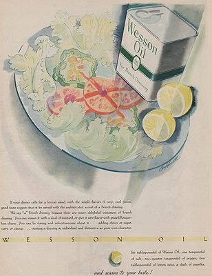 ORIG VINTAGE MAGAZINE AD/ 1931 WESSON OIL ADillustrator- N/A - Product Image