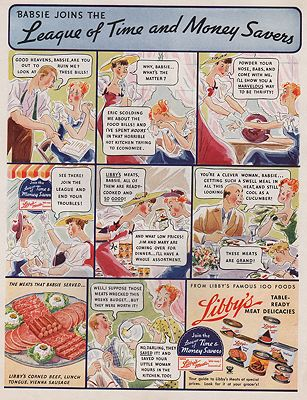 ORIG VINTAGE MAGAZINE AD/ 1935 LIBBY'S CANNED MEAT DELICACIES ADby: N/A - Product Image