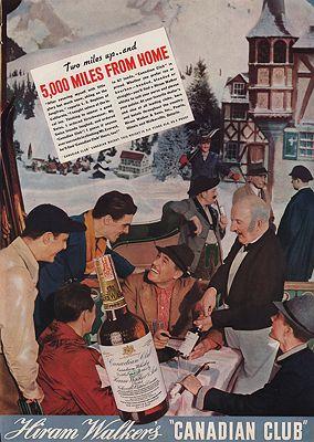 ORIG VINTAGE MAGAZINE AD/ 1937 CANADIAN CLUB WHISKEY ADby: N/A - Product Image