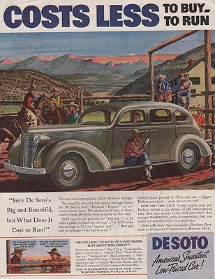 ORIG VINTAGE MAGAZINE AD/ 1937 DESOTO CAR AD by: Saalburg (Illust.), Leslie - Product Image