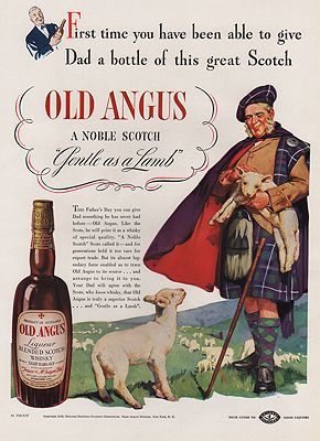 ORIG VINTAGE MAGAZINE AD/ 1938 OLD ANGUS WHISKEY ADby: N/A - Product Image