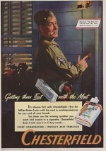 ORIG VINTAGE MAGAZINE AD/ 1944 CHESTERFIELD CIGARETTE ADN/A - Product Image