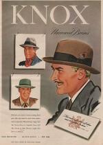 ORIG VINTAGE MAGAZINE AD /1947 KNOX HAT ADGoodman (Illust.), Robert, Illust. by: Robert  Goodman - Product Image