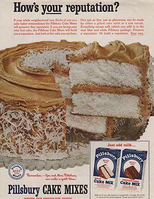 ORIG VINTAGE MAGAZINE AD/ 1952 PILLSBURY CAKE MIX ADby: N/A - Product Image