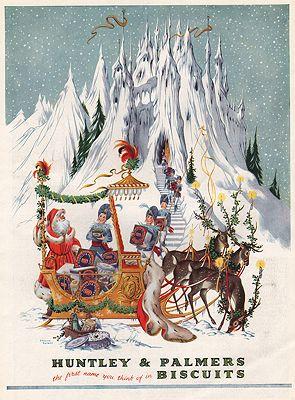 ORIG VINTAGE MAGAZINE AD/ 1953 HUNTLEY & PALMER BISCUITSby: Baynes (Illust.), Pauline - Product Image