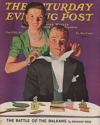 ORIG VINTAGE MAGAZINE COVER - SATURDAY EVENING POST - APRIL 26 1941by: Phillips (Illust.), John Hyde - Product Image
