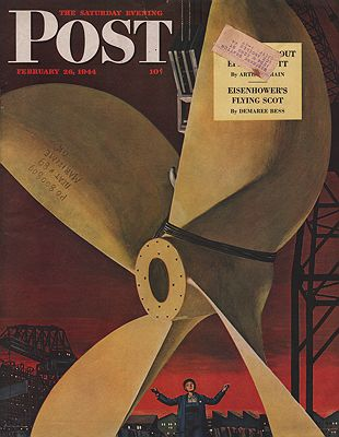 ORIG VINTAGE MAGAZINE COVER - SATURDAY EVENING POST - FEBRUARY 26 1944by: Ludekens (Illust.), Fred - Product Image
