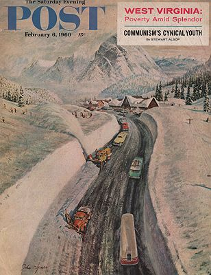 ORIG VINTAGE MAGAZINE COVER - SATURDAY EVENING POST - FEBRUARY 6 1960by: Clymer (Illust.), John - Product Image