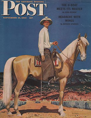 ORIG VINTAGE MAGAZINE COVER - SATURDAY EVENING POST - SEPTEMBER 18 1943by: Ludekens (Illust.), Fred - Product Image