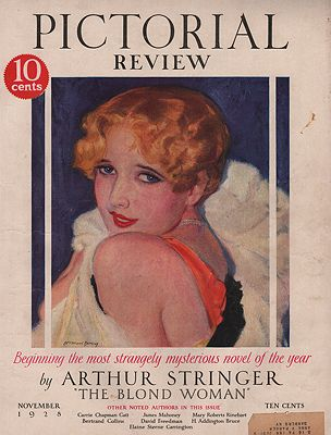 ORIG VINTAGE MAGAZINE COVER/  PICTORIAL REVIEW - NOVEMBER 1928illustrator- McClelland  Barclay - Product Image