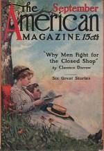 ORIG VINTAGE MAGAZINE COVER/ AMERICAN MAGAZINE - SEPTEMBER 1911by- Arthurs (Illust.), Stanley M., Illust. by: Stanley  Arthurs - Product Image