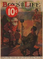 ORIG VINTAGE MAGAZINE COVER/ BOYS LIFE - DECEMBER 1932by- Lowell (Illust.), Orson, Illust. by: Orson  Lowell - Product Image